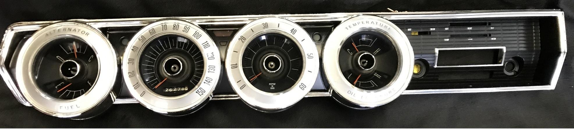 Dodge Charger List >> 1966 1967 Dodge Charger Electroluminescent gauges ...